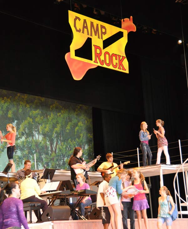Many came out to the Miller Outdoor Theatre Wednesday to catch a free performance by the Theatre Under The Stars&#39; Humphreys School of Musical Theatre of Disney&#39;s Camp Rock The Musical <span class=meta>(KTRK&#47;Blanca Beltran)</span>
