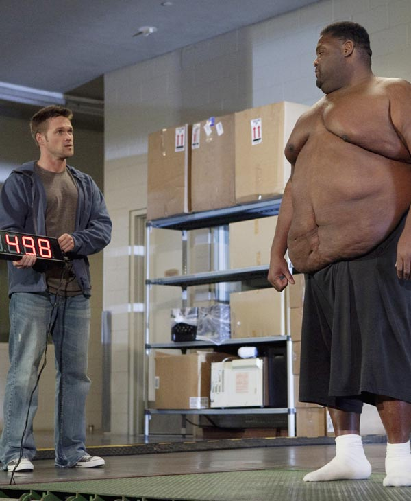 "<div class=""meta ""><span class=""caption-text "">Dana, a 45 year-old bachelor from Franklin, Tennessee who has masked his emotional pain with food for over three decades, weighs in at 498 pounds. When trainer and transformation specialist Chris Powell surprises Dana at his water aerobics class, Dana is overcome with joy at the chance to reclaim his life. Once his weight loss journey begins, he starts to see changes in his life as well as his waistline. But when the progress mysteriously stops, Chris has an intense and emotional confrontation with Dana that leads to a revelation, on ""Extreme Makeover: Weight Loss Edition,"" MONDAY, JUNE 13 (10:01-11:00 p.m., ET) on the ABC Television Network. (ABC/GREG ZABILSKI) PAULETTE LAMBERT, DANA, CHRIS POWELL </span></div>"