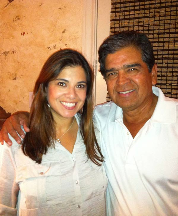 ABC-13 reporter Patricia Lopez and her father <span class=meta>(Patricia Lopez)</span>