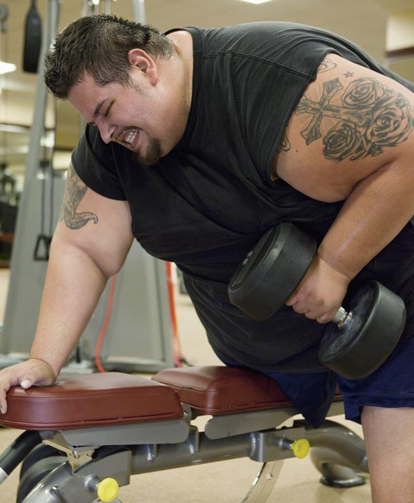 """James"" -- Weighing in at 651 pounds, James, a 25-year-old former football player from Fort Worth, Texas, becomes the most obese person trainer and transformation specialist Chris Powell has ever worked with. James must lose 150 pounds to stay on track in the first of his four, three-month phases of weight loss. This episode of ""Extreme Makeover: Weight Loss Edition"" airs MONDAY, JUNE 20 (10:01-11:00 p.m., ET) on the ABC Television Network. (ABC/CRAIG SJODIN)"