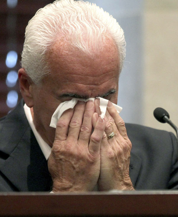 "<div class=""meta ""><span class=""caption-text "">George Anthony testifies during the murder trial of his daughter, Casey, at the Orange County Courthouse in Orlando, Fla., Wednesday, June 29, 2011. Casey Anthony, 25, has pleaded not guilty to first-degree murder in the death of her daughter, 2-year-old Caylee Anthony, and could face the death penalty if convicted of that charge. (Red Huber, Orlando Sentinel)</span></div>"