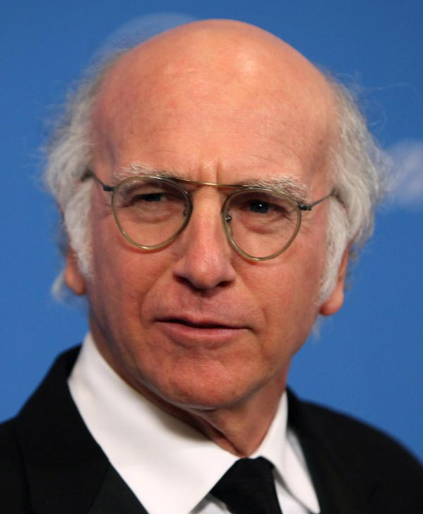 "In this Dec. 10, 2009 file photo, Larry David arrives at the UNICEF Ball honoring producer Jerry Weintraub in Beverly Hills, Calif. David was nominated for an Emmy for best actor in a comedy series on Thursday, July 8, 2010 for his role in ""Curb Your Enthusiasm."" The 62nd Primetime Emmy Awards will be held on Sunday, Aug. 29, in Los Angeles. (AP Photo/Matt Sayles, file)"