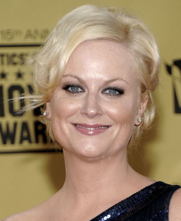 "In this Jan. 15, 2010 file photo, Amy Poehler arrives at the 15th Annual Critics Choice Movie Awards in Los Angeles. Poehler was nominated for an Emmy for best actress in a comedy series on Thursday, July 8, 2010 for her role in ""Parks and Recreation."" The 62nd Primetime Emmy Awards will be held on Sunday, Aug. 29, in Los Angeles. (AP Photo/Dan Steinberg, file)"