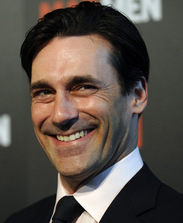 "In this Aug. 3, 2009 file photo, actor Jon Hamm arrives at the Season 3 premiere of the AMC series ""Mad Men"" in Los Angeles. Hamm was nominated for an Emmy, Thursday, July 8, 2010 for best actor in a comedy series for his role in ""Mad Men."" The 62nd Primetime Emmy Awards will be held on Sunday, Aug. 29.  (AP Photo/Chris Pizzello, file)"