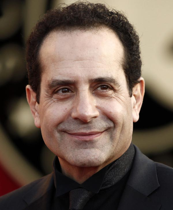 "In this Jan. 23, 2010 file photo, actor Tony Shalhoub arrives at the 16th Annual Screen Actors Guild Awards in Los Angeles. Shalhoub was nominated for an Emmy for best actor in a comedy series on Thursday, July 8, 2010, for his role in ""Monk."" The 62nd Primetime Emmy Awards will be held on Sunday, Aug. 29, in Los Angeles. (AP Photo/Matt Sayles, file)"