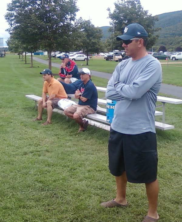 Dads and uncles watching practice (Photo by: Jeff Ehling)