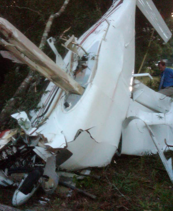 Images from the scene of a plane crash in Montgomery County (Photo by: John Mizwa)
