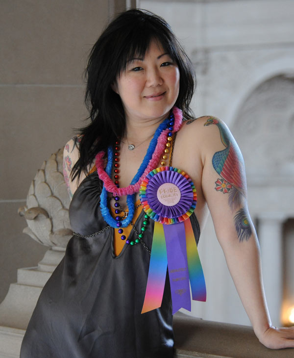 Margaret Cho poses for a portrait at the Gay Pride Parade in San Francisco, Sunday, June 29, 2008. (AP Images for VH1/Kevin Sam)