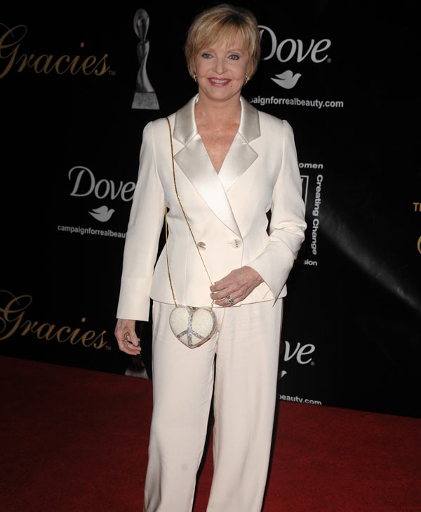 "<div class=""meta ""><span class=""caption-text "">Actress Florence Henderson arrives at the 33rd Annual American Women in Radio & Television's Gracie Allen Awards at the Marriott Marquis Hotel in Times Square on Wednesday, May 28, 2008, in New York. (AP Photo/Peter Kramer)</span></div>"