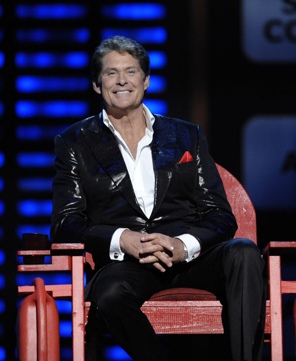 Actor David Hasselhoff at the Comedy Central Roast of David Hasselhoff on Sunday, Aug. 1, 2010. (AP Photo/Dan Steinberg)