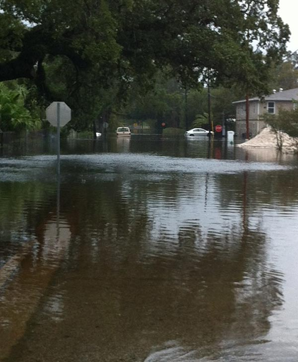 High water in Slidell, Louisiana area