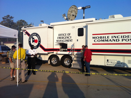 "<div class=""meta ""><span class=""caption-text "">Images from the command center set up in Magnolia  (KTRK/Samica Knight)</span></div>"