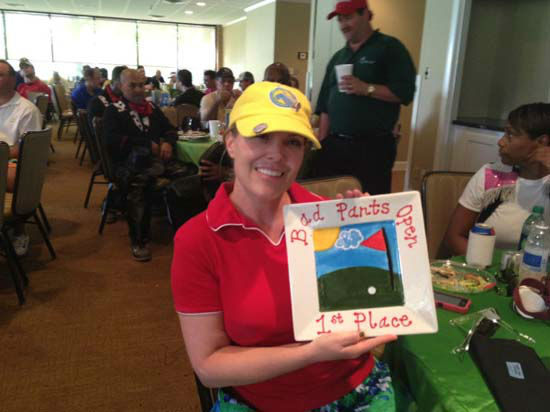 "<div class=""meta ""><span class=""caption-text "">More than 350 golfers wore their funkiest, wackiest pants to take part of 15th annual Bad Pants Open Golf Tournament on Wednesday, Oct. 10 at the Clubs of Kingwood.  The tournament benefits the Texas Children's Newborn Center. (Casey Curry)</span></div>"