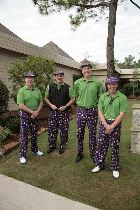 More than 350 golfers wore their funkiest, wackiest pants to take part of 15th annual Bad Pants Open Golf Tournament on Wednesday, Oct. 10 at the Clubs of Kingwood.  The tournament benefits the Texas Children&#39;s Newborn Center. <span class=meta>(John R. Lewis)</span>