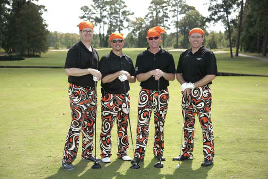 "<div class=""meta ""><span class=""caption-text "">More than 350 golfers wore their funkiest, wackiest pants to take part of 15th annual Bad Pants Open Golf Tournament on Wednesday, Oct. 10 at the Clubs of Kingwood.  The tournament benefits the Texas Children's Newborn Center. (John R. Lewis)</span></div>"