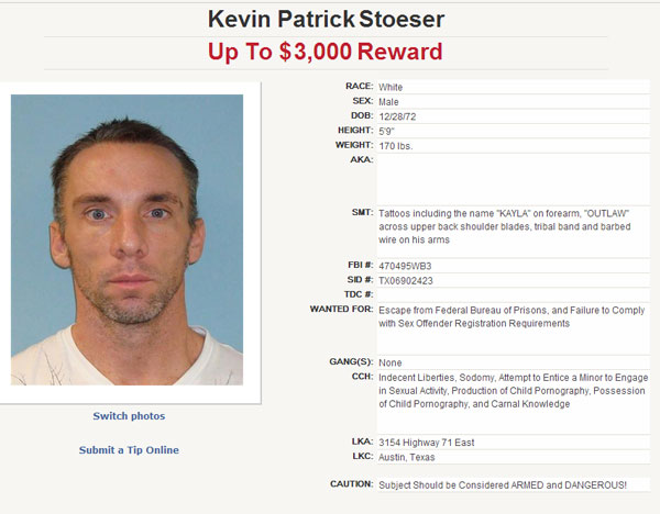 Suspect on the Texas 10 Most Wanted Sex Offender list. <span class=meta>(Texas Department of Public Safety)</span>