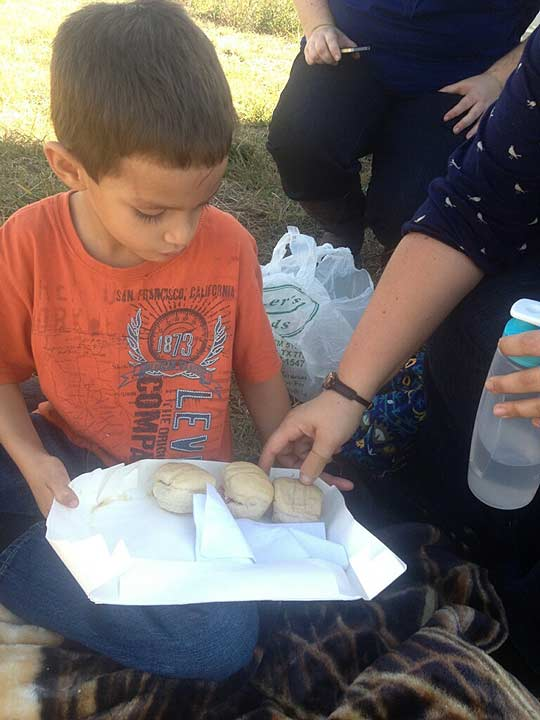 Damien Ortiz, 5, got his mother's permission to serve turkey sandwiches to the other victims of the pileup after their vehicle was hit by a jack-knifed semi.  They were taking turkey dinner to surprise loved ones in Louisiana.  During the accident, Damien's puppy Bo went missing and was later found by a wrecker driver working the accident.