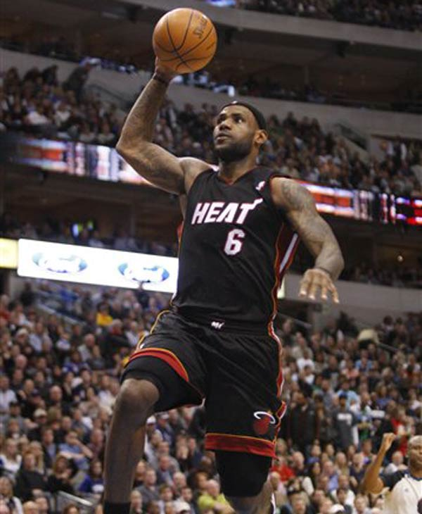 Miami Heat small forward LeBron James made Barbara Walters' list of the 'Most Fascinating People' of 2010. (AP Photo/Mike Fuentes)