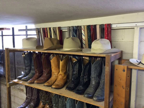 """<div class=""""meta image-caption""""><div class=""""origin-logo origin-image """"><span></span></div><span class=""""caption-text"""">The store is only open two days a week, but the deals on used cowboy boots and apparel can't be beat.  (KTRK Photo)</span></div>"""