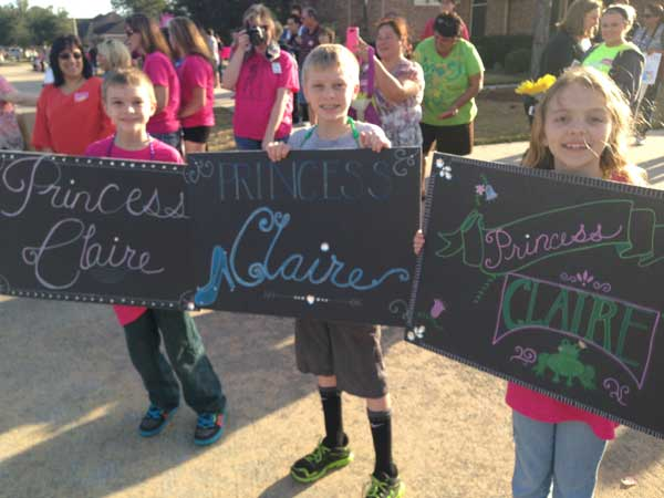 "<div class=""meta image-caption""><div class=""origin-logo origin-image ""><span></span></div><span class=""caption-text"">An entire community pitches in for a surprise princess parade in Dickinson for Claire Lankford, a five-year-old who's been diagnosed with terminal cancer.  (Samica Knight)</span></div>"