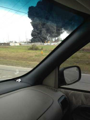 These are photos viewers have sent in from today&#39;s fire at the Marathon plant in Texas City.  If you have photos or videos, email them to us at news@abc13.com <span class=meta>(Photo&#47;iWitness reports)</span>