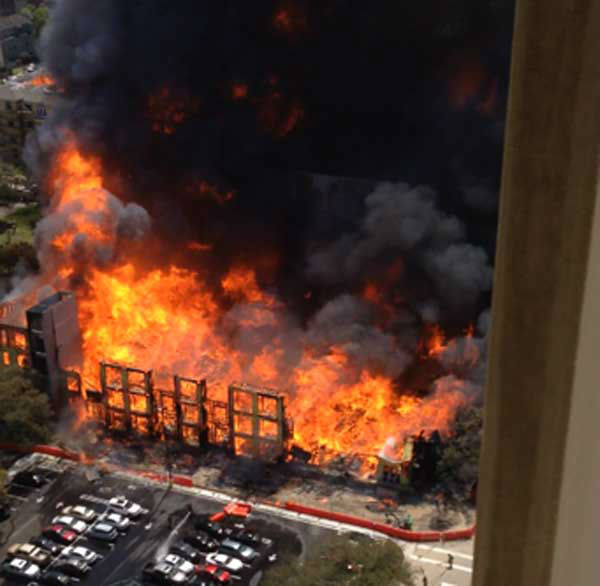 These are photos viewers sent to us of Tuesday&#39;s massive apartment fire in the Montrose area.  See more at iWitness.abc13.com.  And if you have photos or videos, email them to us  at news@abc13.com <span class=meta>(Photo&#47;iWitness Reports)</span>