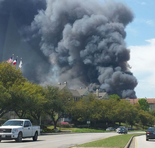 These are photos sent to us at news@abc13.com of the fire that burned in the Montrose area Tuesday. <span class=meta>(Photo&#47;iWitness Reports)</span>