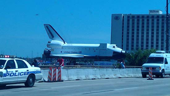 "<div class=""meta image-caption""><div class=""origin-logo origin-image ""><span></span></div><span class=""caption-text"">These are photos you've been sending in from the shuttle's move from Florida to Space Center Houston.  If you captured photos or videos of the move, email them to us at news@abc13.com. (Photo/iWitness Reports)</span></div>"