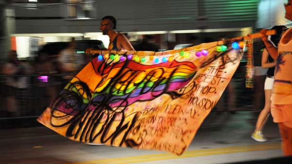 Thousands gathered in the Montrose area on June 25 for Houston&#39;s 33rd annual gay pride parade <span class=meta>(KTRK Photo)</span>