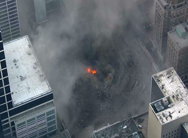 "<div class=""meta ""><span class=""caption-text "">A downtown Houston icon for decades was reduced to rubble Sunday morning.  What was Foley's, then Macy's was imploded. (Photo/Sky Eye HD)</span></div>"