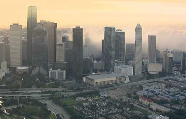 A downtown Houston icon for decades was reduced to rubble Sunday morning.  What was Foley&#39;s, then Macy&#39;s was imploded. <span class=meta>(Photo&#47;Sky Eye HD)</span>