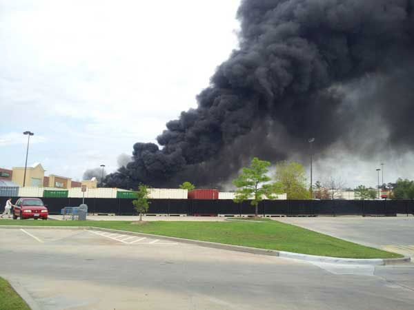 Viewer photos from the fire in Montgomery County. Send your photos or videos to news@abc13.com