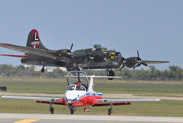 Aircraft from different eras filled the skies over Ellington for the Wings over Houston Air Show, October 15-16, 2011.  These are some of the images from the show.  If you shot photos or videos, send them to us at news@abc13.com or upload them here. <span class=meta>(Photo&#47;ABC13 and iWitness Photos)</span>