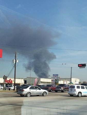 "<div class=""meta ""><span class=""caption-text "">These are photos sent in by Eyewitness News viewers of Monday's fire at an auto salvage yard in northeast Harris County.  (Photo/iWitness reports)</span></div>"
