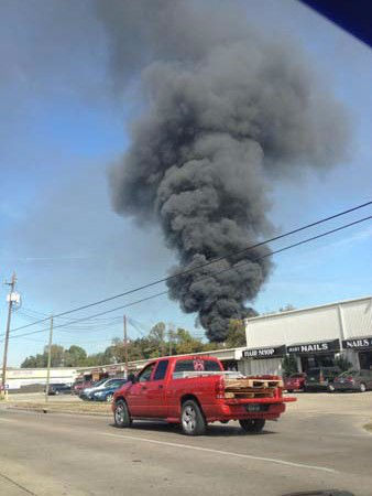 These are photos sent in by Eyewitness News viewers of Monday&#39;s fire at an auto salvage yard in northeast Harris County.  <span class=meta>(Photo&#47;iWitness reports)</span>
