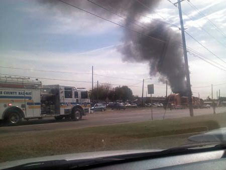 "<div class=""meta ""><span class=""caption-text "">These are photos sent in by Eyewitness News viewers of Monday's fire at an auto salvage yard in northeast Harris County (iWitness reports)</span></div>"