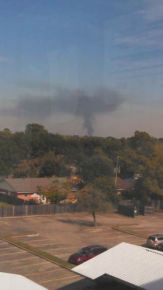 These are photos sent in by Eyewitness News viewers of Monday&#39;s fire at an auto salvage yard in northeast Harris County <span class=meta>(iWitness reports)</span>