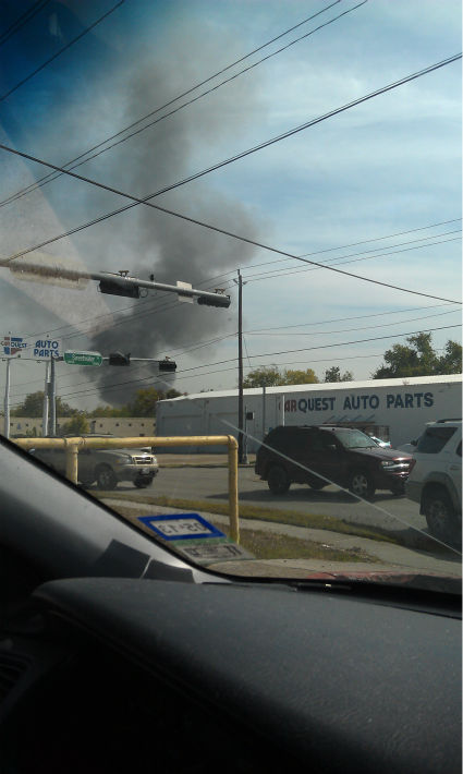 These are photos sent in by Eyewitness News viewers of Monday&#39;s fire at an auto salvage yard in northeast Harris County <span class=meta>(Photo&#47;iWitness reports)</span>
