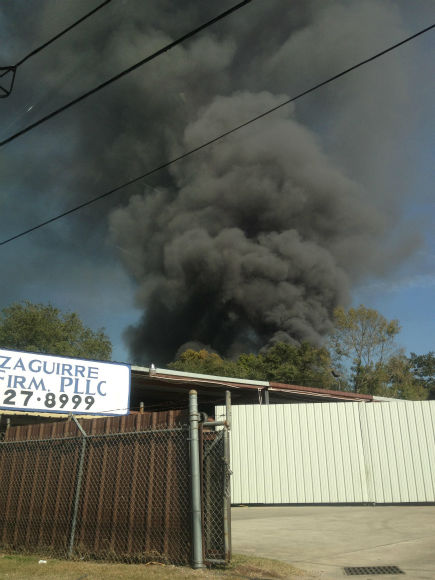 "<div class=""meta ""><span class=""caption-text "">These are photos sent in by Eyewitness News viewers of Monday's fire at an auto salvage yard in northeast Harris County (Photo/iWitness reports)</span></div>"