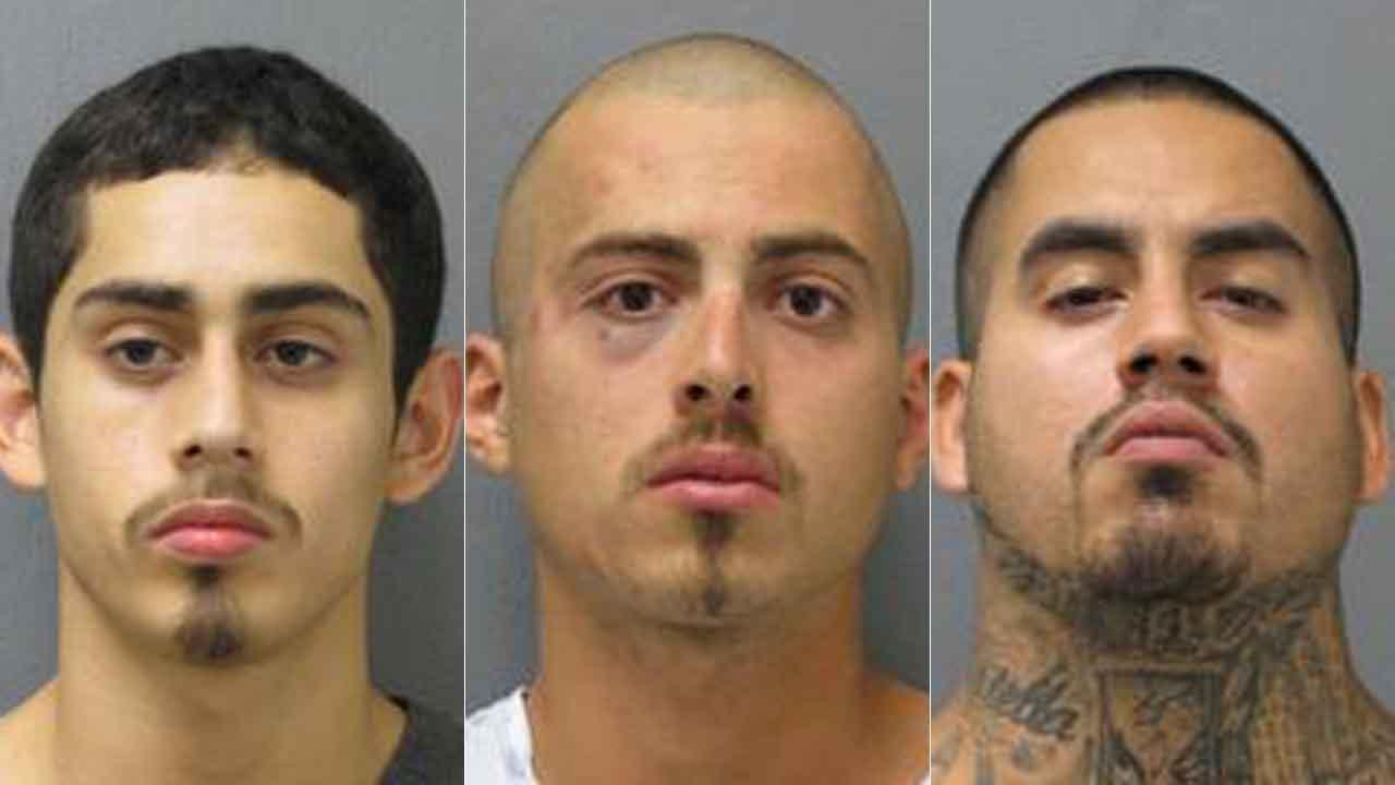 Three brothers arrested after police chase