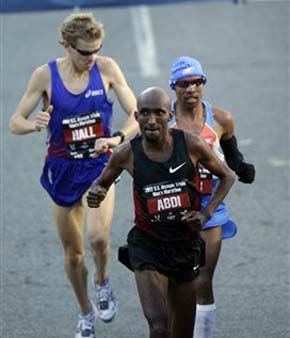 "<div class=""meta ""><span class=""caption-text "">From left to right, Ryan Hall, Abdi Abdirahman and Meb Keflezighi compete during the U.S. Olympic Trials Marathon Saturday, Jan. 14, 2012, in Houston. (AP Photo/David J. Phillip) (AP Photo/ David J. Phillip)</span></div>"