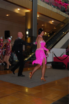 "<div class=""meta ""><span class=""caption-text "">Lester and Sue Smith perform at a flash mob dance at the Houston Galleria to 'I Will Survive' -- sung live by Gloria Gaynor -- for National Cancer Survivors Day (KTRK Photo/ Kristy Gillentine)</span></div>"