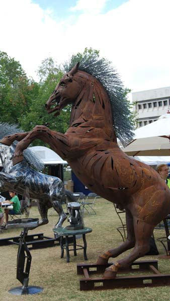 Hundreds of artists showcase their works in downtown Houston at the Bayou City Art Festival, October 8-9, 2011 <span class=meta>(KTRK Photo&#47; Gina Larson)</span>