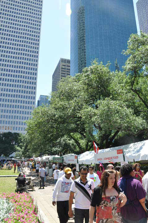 The 42nd annual Houston International Festival is spotlighting Argentina and it is providing visitors with some of the best cuisine, activities and performing artists from around the world. The Festival will take place two weekends, April 21-22 &amp; April 28-29, 11am -- 8pm.    <span class=meta>(KTRK Photo&#47; Blanca Beltran)</span>