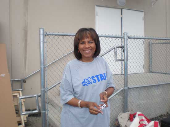 "<div class=""meta image-caption""><div class=""origin-logo origin-image ""><span></span></div><span class=""caption-text"">Volunteers, including some you might recognize, got down and dirty to set up for Friday's playground build at KIPP Legacy Preparatory School in northeast Houston. </span></div>"