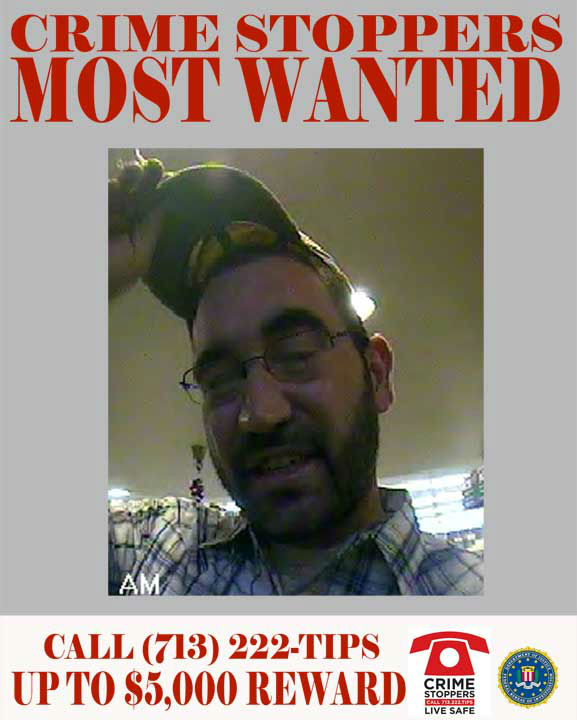 "<div class=""meta image-caption""><div class=""origin-logo origin-image ""><span></span></div><span class=""caption-text"">CAPTURED:  The suspect featured in this profile of the Crime Stoppers Top Ten Most Wanted Bank Robbery Suspects is responsible for the robbery of four separate banks throughout July and August of 2012.  In each of the offenses, the suspect entered the banks (locations listed below) with the intent to rob the teller via passing a threatening note.  In each instance, surveillance cameras clearly captured an image of the suspect.  The dates, locations and offense report number for each of the suspect's robberies is listed below.   1.	07/02/12:  8550 Highway 6 North 2.	08/07/12:  1461 Spring Cypress  3.	08/20/12:  10306 S. Post Oak Road   4.	08/20/12:  612 N. Victory    If you recognize any of theses suspects, contact Crime-Stoppers at 713-222-TIPS.  You could earn a cash reward.  (Photo/Crime-Stoppers.org)</span></div>"