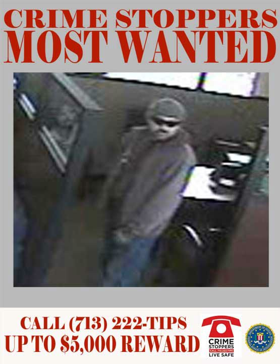 On the afternoon of January 1, 2012, the bank located on the 200 block of West Greens Road was robbed by the Hispanic Male in the following profile.  It was in the afternoon, when the unidentified male entered the bank wearing a watch cap, sunglasses and a long jacket.  The suspect approached a teller stating, &#34;Quiero tres mil d&#243;lares, mi hijo esta enfermo.&#34; &#40;I want three thousand dollars, my son is sick.&#41;  The suspect then displayed a weapon and the teller left to retrieve the cash.  While the teller retrieved the money, the suspect waited in the bank&#39;s waiting area amidst the innocent bank patrons.   The suspect fled the scene in a 2008 burgundy Chevrolet Silverado pickup.  He is described as a Hispanic male 35-36 years of age.    01&#47;01&#47;2012:	200 West Greens Road    If you recognize any of theses suspects, contact Crime-Stoppers at 713-222-TIPS.  You could earn a cash reward.  <span class=meta>(Photo&#47;Crime-Stoppers.org)</span>