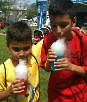 &#34;Joshua and Nate having an dry ice fruit drink. Really cool.&#34; -- Photo sent in by an ABC13 viewer through iWitness Reports. Send your photos to News@abc13.com! <span class=meta>(KTRK Photo)</span>