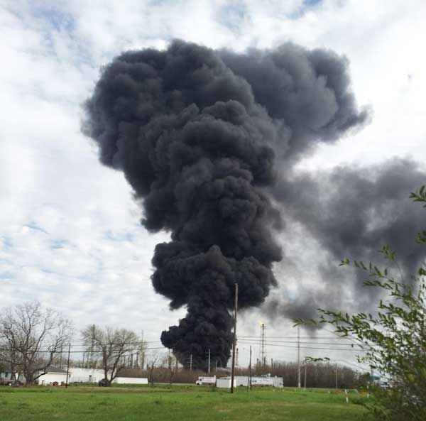 These are photos viewers have sent in from today's fire at the Marathon plant in Texas City.  If you have photos or videos, email them to us at news@abc13.com