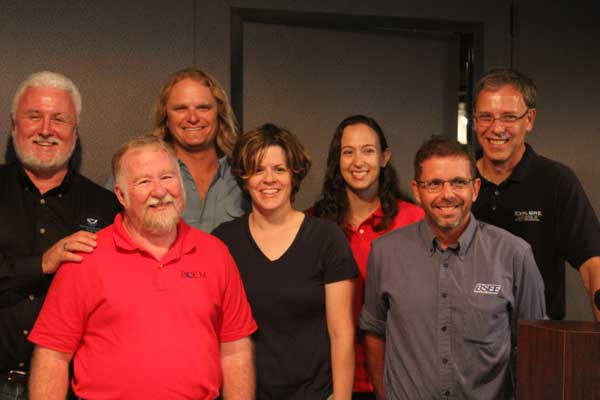 Top Row &#40;left to right&#41;: Dr. James Delgato, Project Archaeologist; Frederick Hanselmann, Principal Investigator; Dr. Alicia Caporaso, Project Archaeologist; Frank Cantelas, Co-Chief Scientist. Bottom Row &#40;left to right&#41;: Dr. Jack Irion, Co-Chief Scientist; Amy Borgens, Co-Principal Investigator; Dr. Christopher Horrell, Co-Principal Investigator.  <span class=meta>(Moody Gardens Cameron Palmer)</span>